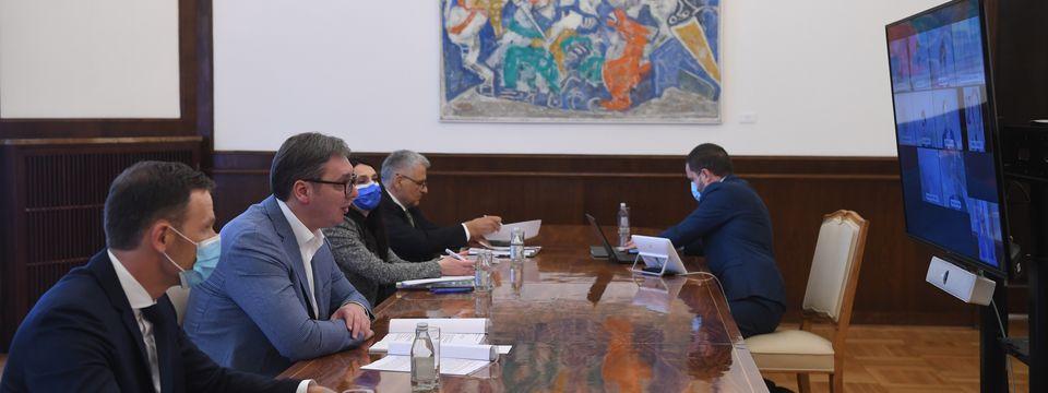 Састанак путем видео линка са представницима делегације ММФ