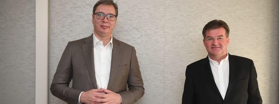 Председник Вучић у Бриселу са специјалним изаслаником ЕУ за дијалог Београда и Приштине