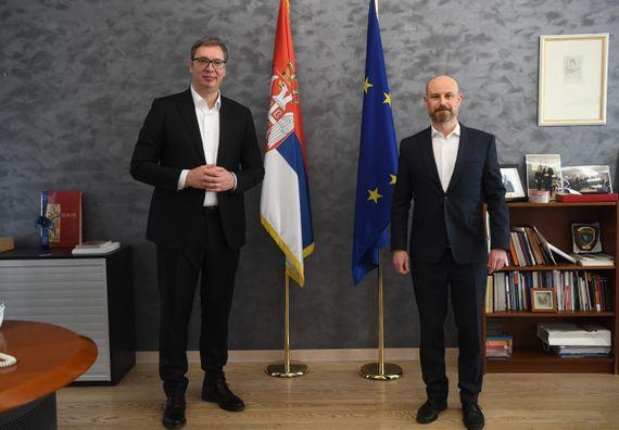 Председник Вучић у посети Бриселу