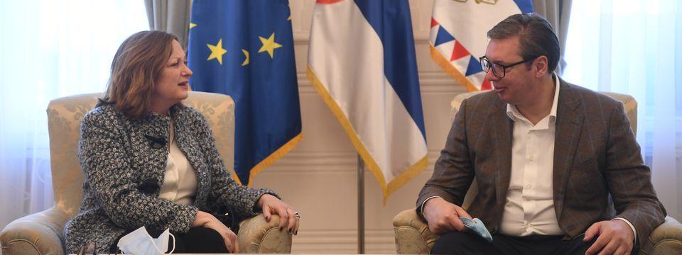 Oproštajna poseta regionalne direktorke Evropske banke za obnovu i razvoj (EBRD) za Zapadni Balkan