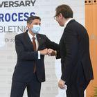 Председник Републике Србије Александар Вучић боравио је у Републици Словенији, где је учествовао на састанку лидера Брдо – Бриони процеса.