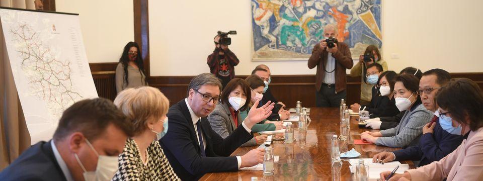 """Sastanak sa delegacijom kompanije """"Shandong Hi-Speed Group"""" i ambasadorkom NR Kine"""