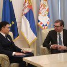 Председник Републике Србије Александар Вучић примио је у опроштајну посету амбасадора Републике Казахстан Габита Сиздикбекова.