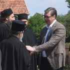 Председник Вучић обишао новоизграђену цркву Светог Саве у Дежеви