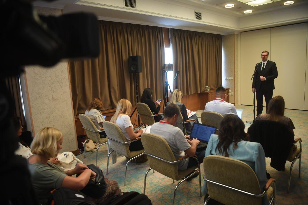 Председник Вучић у посети Скопљу