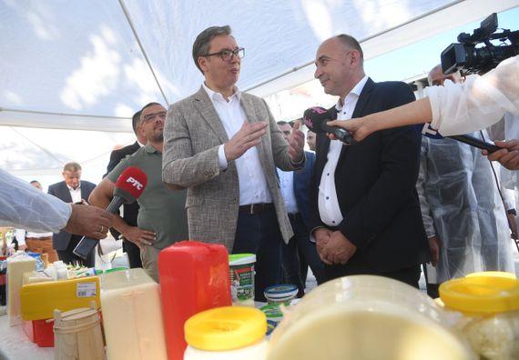 Predsednik Vučić obišao Prokuplje, Blace i Brus