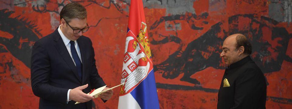 Председник Вучић примио акредитивна писма новоименованог амбасадора Републике Индије