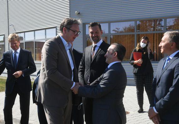 Predsednik Vučić je prisustvovao otvaranju nove fabrike kompanije Leoni