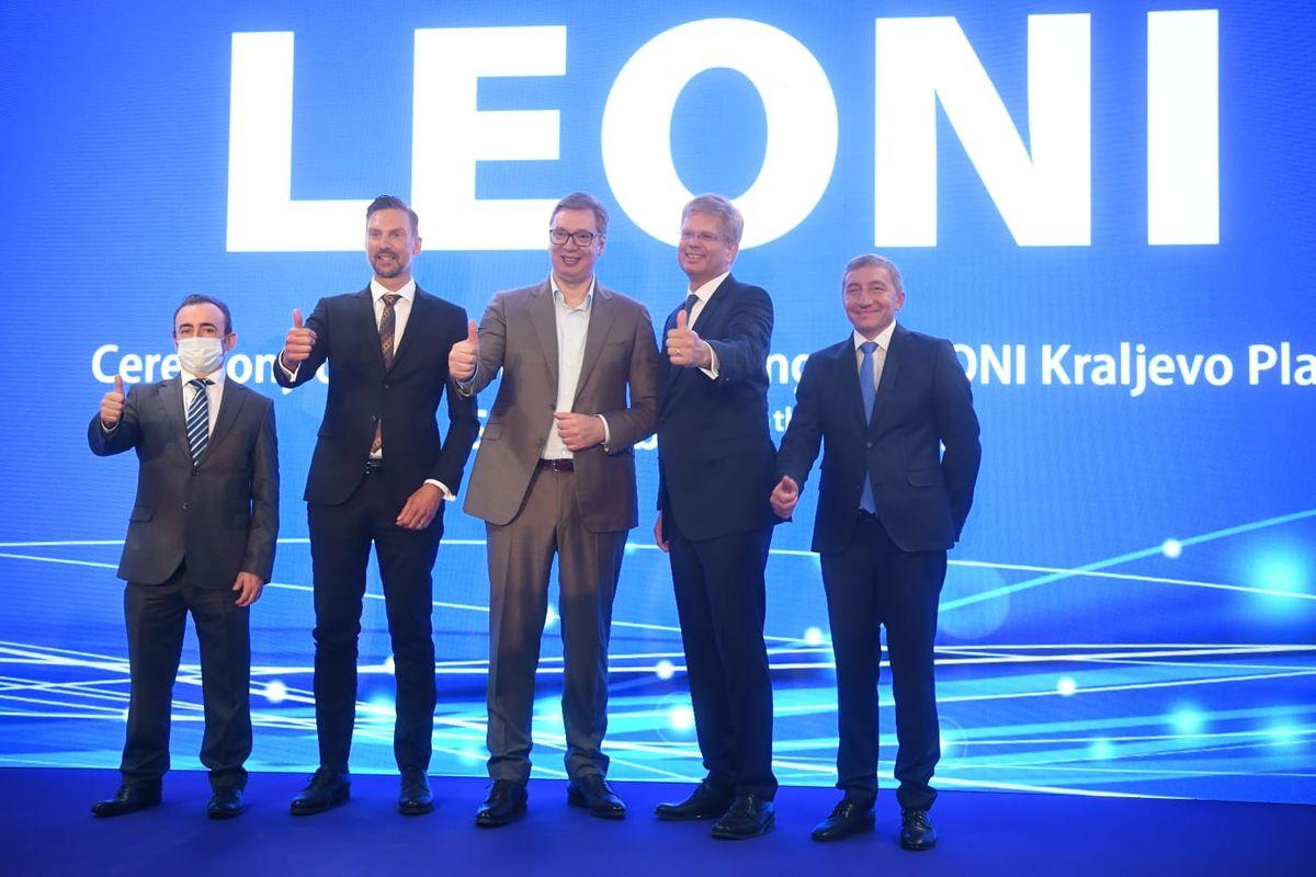 Председник Вучић је присуствовао отварању нове фабрике компаније Леони