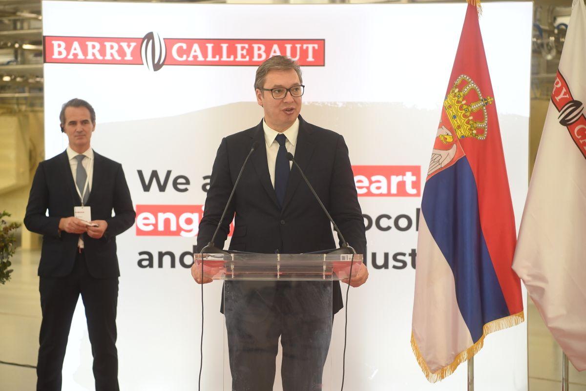 """Председник Вучић присуствоваo отварању фабрике """"Barry Callebaut"""""""