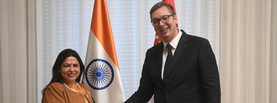 Састанак са специјалним изаслаником председника Владе и државном министарком у Министарству спољних послова Републике Индије