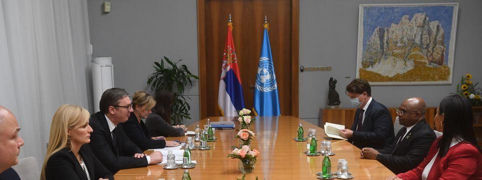 Састанак са председником Генералне скупштине Уједињених нација