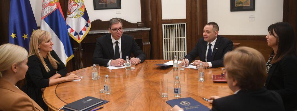 Sastanak sa ministrom unutrašnjih poslova, državnim sekretarom Ministarstva pravde, Republičkim javnim tužiocem i Tužiocem za ratne zločine