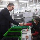 Predsednik Vučić prisustvovao svečanom otvaranju fabrike Magna Seating ogranak Aleksinac.